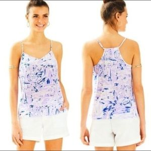 Lilly pulitzer purple rock the dock dusk tank top